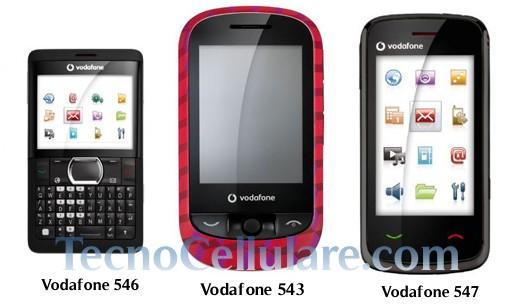 546 543 547: ecco i nuovi telefoni economici di vodafone
